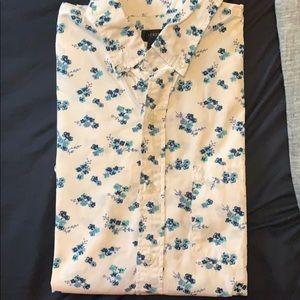 JCrew floral short sleeve shirt